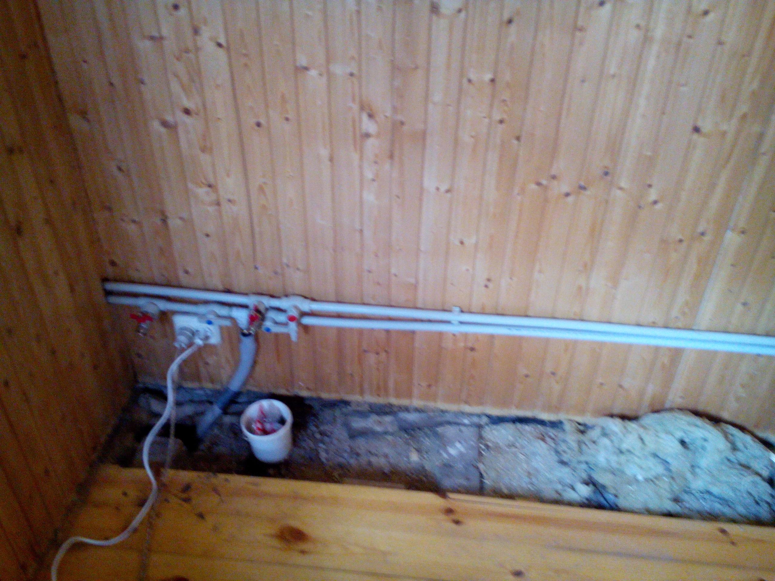 Прокладка водопровода в летней кухне своими руками- сантехник на дом.